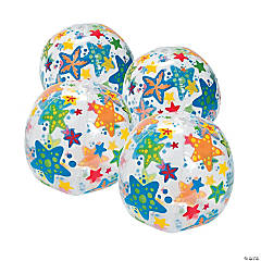 Inflatable Starfish Print Beach Balls
