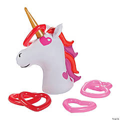 Inflatable Valentine Unicorn Ring Toss Game
