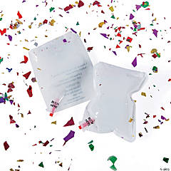Inflatable White Confetti Bags