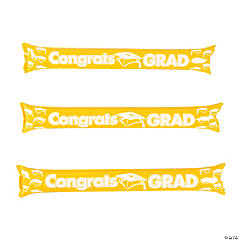 Inflatable Yellow Graduation Boom Sticks