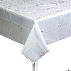 Inspirational Cross Plastic Tablecloth