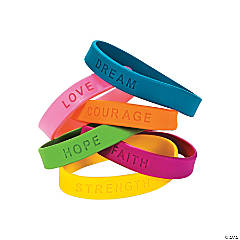 Inspirational Sayings Rubber Bracelets