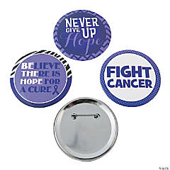Inspiring Purple Awareness Ribbon Buttons