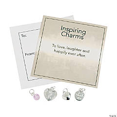 Inspiring Wedding Silver Charms with Inspirational Tag
