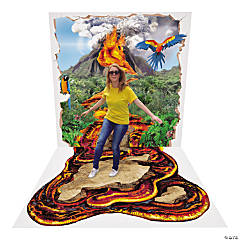 Interactive Volcano Plastic Backdrop