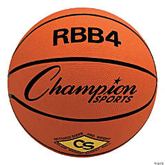 Intermediate Rubber Basketball, Orange, Set of 3