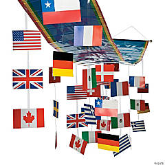 International Flags Ceiling Decoration