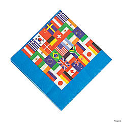International Flags Luncheon Napkins
