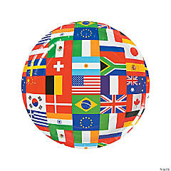 International Flags Paper Dinner Plates