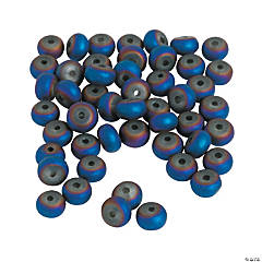 Iridescent Blue Spacer Beads
