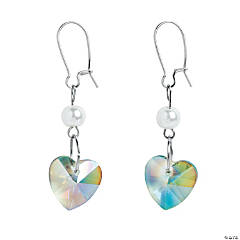 Iridescent Heart Earrings Craft Kit