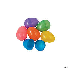 Iridescent Plastic Easter Eggs - 144 Pc.