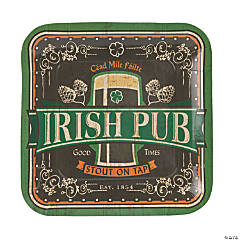 Irish Pub Paper Dinner Plates