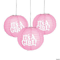 It's a Girl Hanging Paper Lanterns
