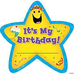 It's My Birthday! Star Badges, 36/pkg, Set of 6pks