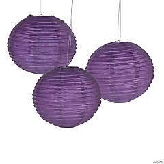 Italian Plum Hanging Paper Lanterns