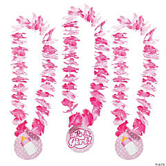 """It's A Girl!"" Baby Shower Leis"