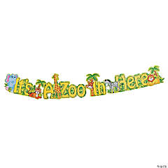 """It's A Zoo in Here"" Paper Jointed Banner"