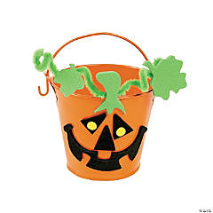 Jack-O'-Lantern Bucket Craft Kit