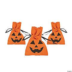 Jack-O'-Lantern Drawstring Bags