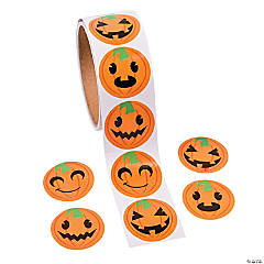 Jack-O-Lantern Face Stickers