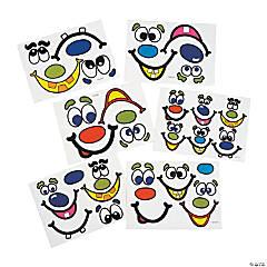 Jack-O'-Lantern Face Stickers