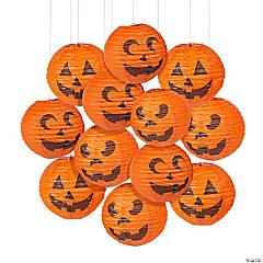 Jack-O'-Lantern Hanging Paper Lanterns