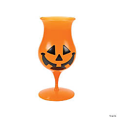 Jack-O'-Lantern Hurricane Glasses