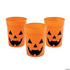 Jack-O'-Lantern Plastic Cups