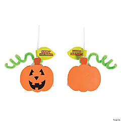 Jack-O'-Lantern Sucker Craft Kit