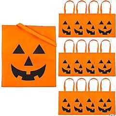 Jack-O'-Lantern Tote Bags
