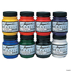 Jacquard Textile Color Fabric Paint 2.25oz 8/Pkg-Primary and Secondary colors