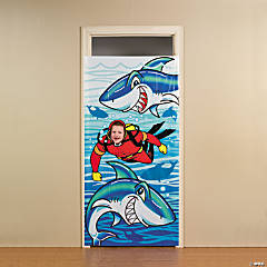 Jawsome Shark Photo Door Banner
