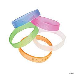 Jelly Inspirational Sayings Rubber Bracelets
