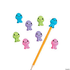 Jellyfish Pencil Eraser Toppers