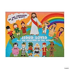 Jesus and the Children Sticker Scenes
