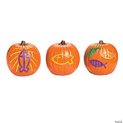 Jesus Fish Pumpkin Decorating Craft Kit