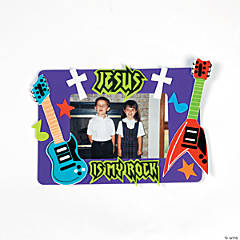 """Jesus Is My Rock"" Picture Frame Magnet Craft Kit"