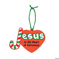 Jesus is the Heart of Christmas Ornament Craft Kit