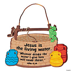 """Jesus Is the Living Water"" Sign Craft Kit"