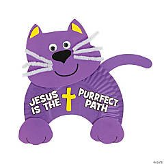 Jesus is the Purrfect Path Paper Plate Craft Kit