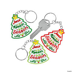 """Jesus Is the Reason"" Child's Key Chains"