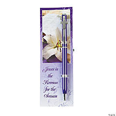 """Jesus Is the Reason For the Season"" Pen & Bookmark Sets"