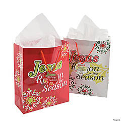 """Jesus Is the Reason"" Gift Bags with Tags"