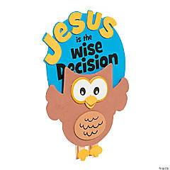 Jesus is the Wise Decision Clothespin Craft Kit