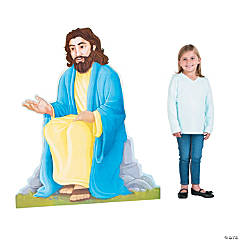 Jesus Leads Me Cardboard Stand-Up