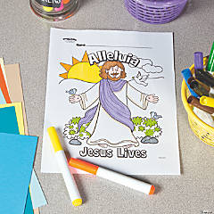 Jesus Lives Free Printable Coloring Page