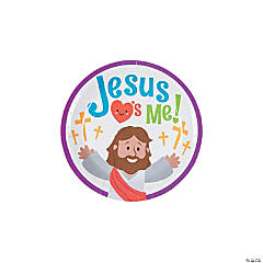 Jesus Loves Me Paper Dessert Plates