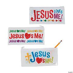 Jesus Loves Me Pencil Bags