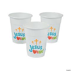 Jesus Loves Me Plastic Cups